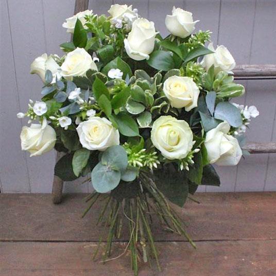 Pure White Dozen Fullers Flowers Florist Princes Risborough